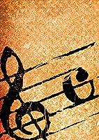 igsticker ポスター ウォールステッカー シール式ステッカー 飾り 1030×1456㎜ B0 写真 フォト 壁 インテリア おしゃれ 剥がせる wall sticker poster 001639 ユニーク 音符 音楽