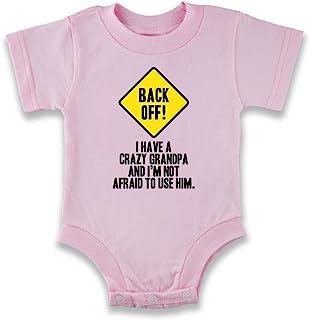 de4ccae98 Back Off I Have A Crazy Grandpa Warning Funny Infant Bodysuit