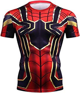 Marvel Avengers Men T-Shirt Compression Crossfit Short Sleeve Brand T Shirt
