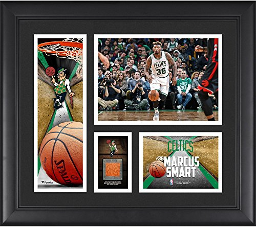 Marcus Smart Boston Celtics Framed 15' x 17' Collage with a Piece of Team-Used Ball - NBA Player Plaques and Collages