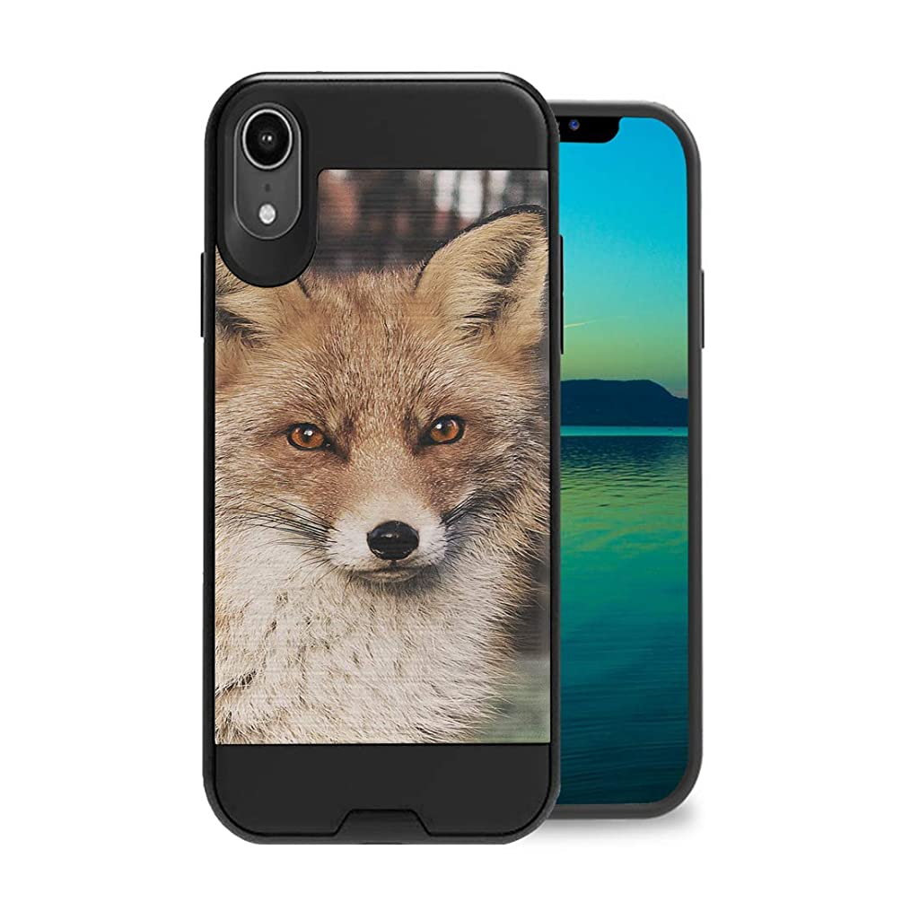 Zicomaxcap Case Compatible with iPhone XR [Hybrid Fusion Dual Layer Slick Armor Case Black] for iPhone XR 2018 - (Fox)