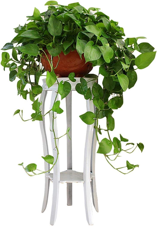 Flower racks - Metal Flower Stand Floor Living Room Potted Shelf European White Plant Display Rack Stool 35×47 80cm (Size   35  80cm)