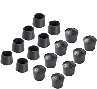 Bestsupplier 24 PCS Chair Leg Tips Caps 7/8 inch Rubber Table Chair Leg Caps Anti, Black