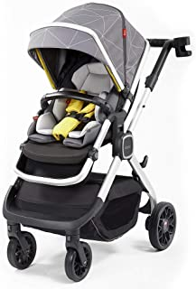 Diono Quantum2, 3-in-1 Luxury Multi-Mode Stroller, Grey Linear (72304)