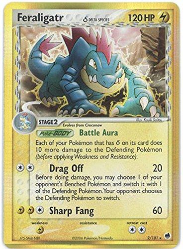 Pokemon - Feraligatr δ (2) - EX Dragon Frontiers - Holofoil