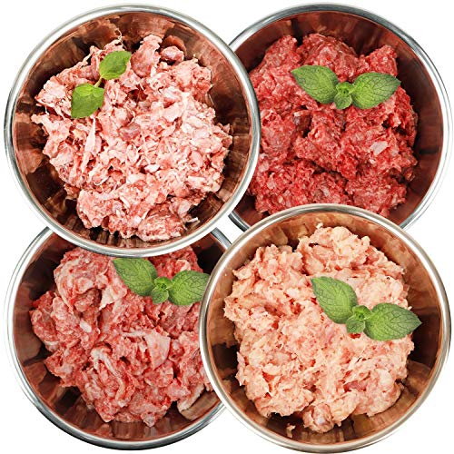 Barf-Snack Frostfleisch Sparpaket 28kg mit Ente, Pute, Kaninchen & Hähnchen biologisch artgerechtes Rohfutter/Gefrierfutter für Hunde & Katzen