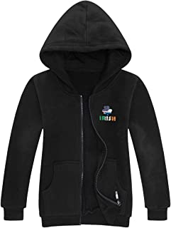 Stylish Unique Full Zip Pullover Hoodies for Youth Teens, Lightweight Cotton Sweatshirt Thin Jacket