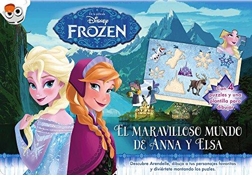 Frozen. El maravilloso mundo de Anna y Elsa: Con 4 puzles y una plantilla para dibujar (Disney. Frozen)