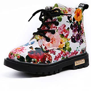 Sunward 1-5 Years Girls Fashion Floral Kids Shoes Baby Boots Casual Children Boots