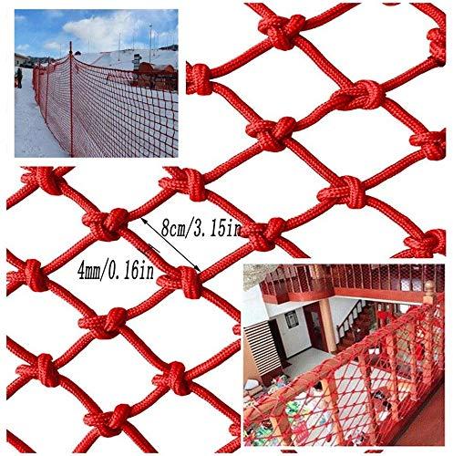 AI LI WEI Protective net decoratie/rood nylon veiligheidsnet, kindertrappen shatter-bestendig net balkon bescherming net rood decoratief net pet barrier net scheidingswand net