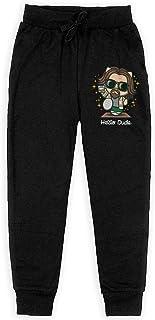 Yuanmeiju Hello Dude Boys Pantalones Deportivos,Pantalones Deportivos for Teens Boys Girls