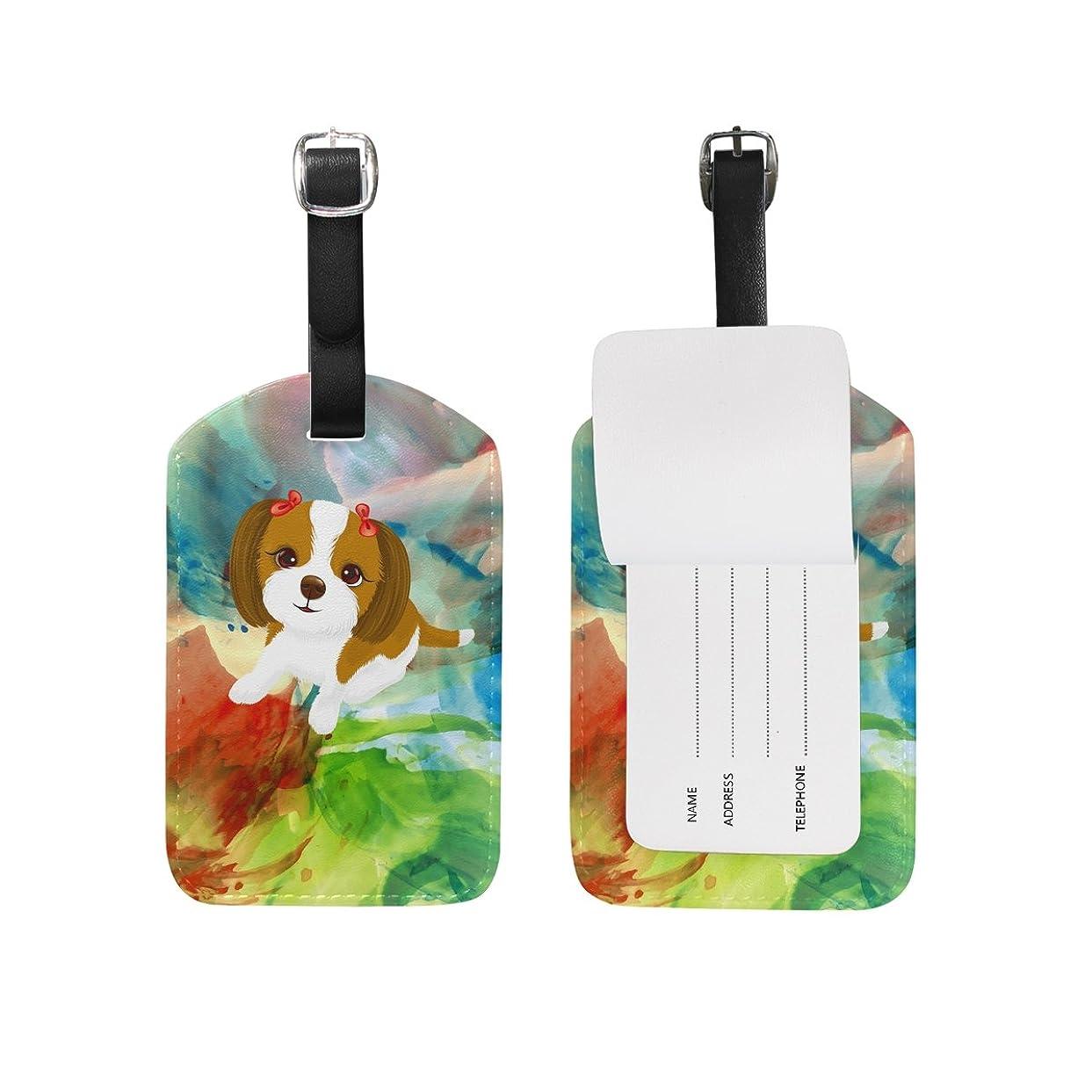 反応する汚す管理者アート子犬犬荷物をトランクラベルリュックサックスーツケース キッズ ジュニアID 旅行用品(2pcs)