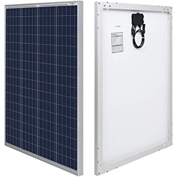 HQST 100 Watt 12 Volt Polycrystalline Solar Panel with MC4 Connectors High Efficiency Module PV Power for Battery Charging Boat, Caravan, RV and Any Other Off Grid Applications