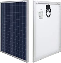 HQST 100 Watt 12 Volt Polycrystalline Solar Panel with Solar Connectors High Efficiency..