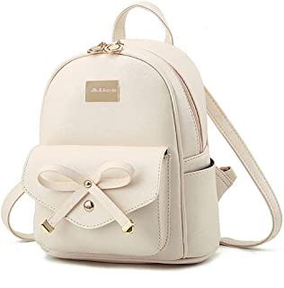 AnyCraft Cute Mini Leather Backpack Fashion Small Stylish professional Daypacks Purse backpack for women, girls, ladies Pu...