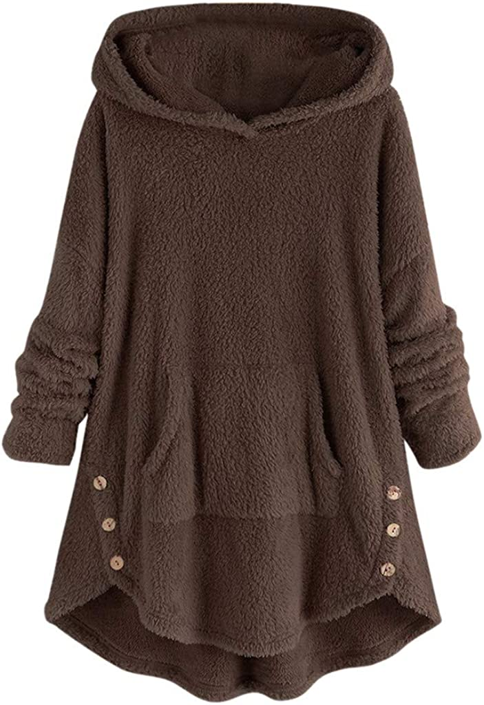 Kansas City Mall Mimacoo Trust Womens Solid Color Pullover Sleeve Po Buttons Tunic Long