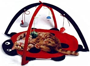 Petty Love House Cat Activity Center with Hanging Toy Balls, Mice More – Helps Cats..