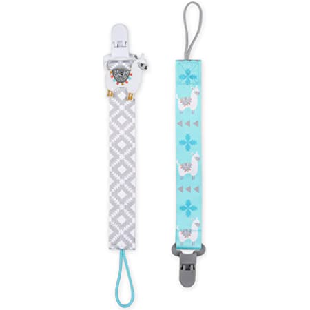 Fits All Pacifier Brands 2 Pack Paci Tether Set The Peanutshell Fox Pacifier Clips