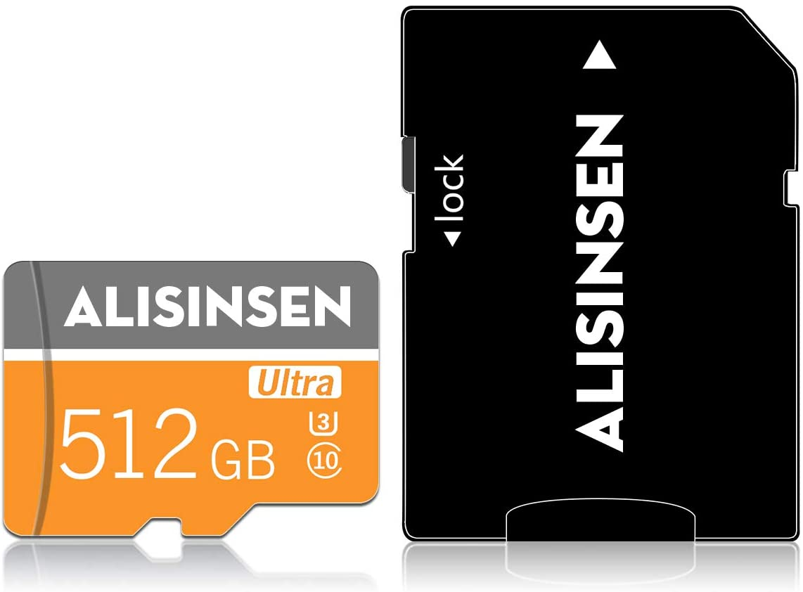 512GB Micro SD Card 512GB SD Memory Card 512GB TF Card Class 10 with A Free SD Card Adapter for Android Phones Tablets Camera(512GB)