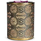 SALKING Wax Melt Burners Electric,Metal Wax Melt Warmer with Lavender Scented Wax,Candle Oil