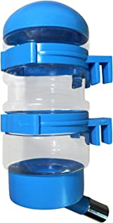 SatisPet Dog Water Dispenser in Blue - Water Bottle for Cats Dogs & Small Animals - Leak-Proof Fountain for Automatically Feeding Water