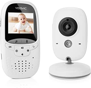 Yissvic Baby Monitor Wireless Baby Video Camera 2 Inch with Night Vision Two-Way Talk Support Voice Activation Temperature...