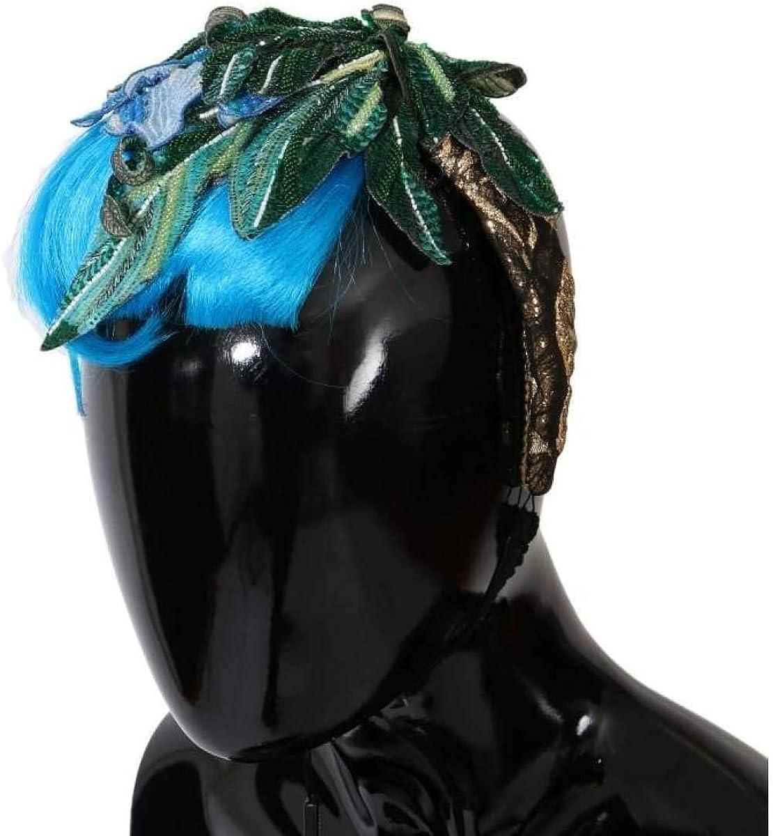 Dolce & Gabbana - Blue Hair Sicily Floral Headband