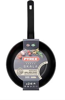 Pyrex SKALA Cast Aluminium Frying Pan, 24 cm, Total Induction, Tri-Layer, Soft Touch Handle