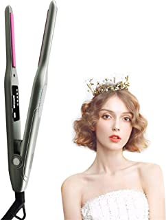 Professional Hair Straightener, Ceramic 2 in 1 Hair Straightener and Curler, Hair Straightener with Adjustable Temperature...