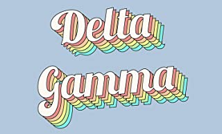 Delta Gamma - Sorority Letter Flag (Retro Design)
