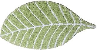 Cute Bathroom Rug, Leaf Rugs for Bathroom, Front Door Mat Carpet Floor Rug, Leaf Shape - Green