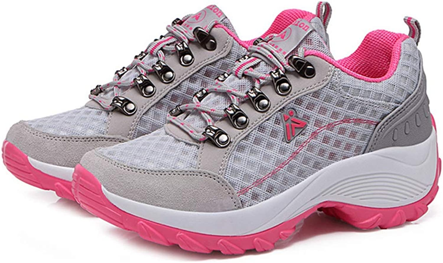 GIY Hiking shoes for Women Outdoor Running Trail Hiker Lightweight Mesh Non-Slip Athletic Climbing Sneaker