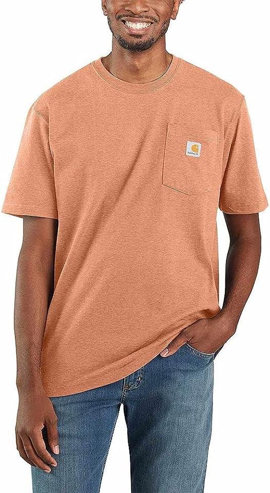 Carhartt Men's Big and Tall K87 Workwear Short Sleeve T-Shirt (Regular and Big & Tall Sizes), Ginger Heather