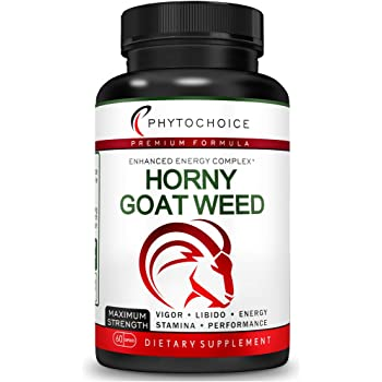 Fast Acting Horny Goat Weed Extract-10X Icariins 100mg-All Natural Extra Strength Horny Goat Weed Pills for Men and Women-Herbal Energy Booster Supplement-Enhance Desire Stamina Performance Endurance