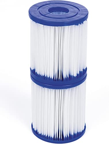 discount Bestway online sale Size I Filter Cartridge for Pools, Blue/White, 3.1 online x 3.5 Inch, Twin Pack outlet online sale