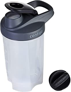 Contigo Shake and Go Fit Tasteguard Protein Shaker Bottle with Mixer Ball and Storage Compartment, Large BPA Free Drinking...