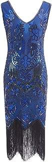 Women Dress Crystal Sequin Women's 1920s Flapper Dress Embellished Fringed Gatsby Dress