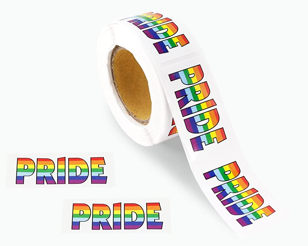 Gay Pride Rainbow Stickers on a Roll -