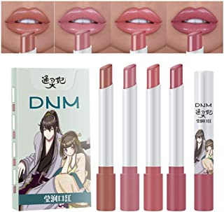 4-Pack Mini Matte Cigarette Lipstick Pack Set Listick Kit, 4 Colors Matte Creme Moisturizing Lipstick, Long Lasting Waterproof Easy To Color Cute Tube Women Make up Cosmetic Lipsticks (Set03)