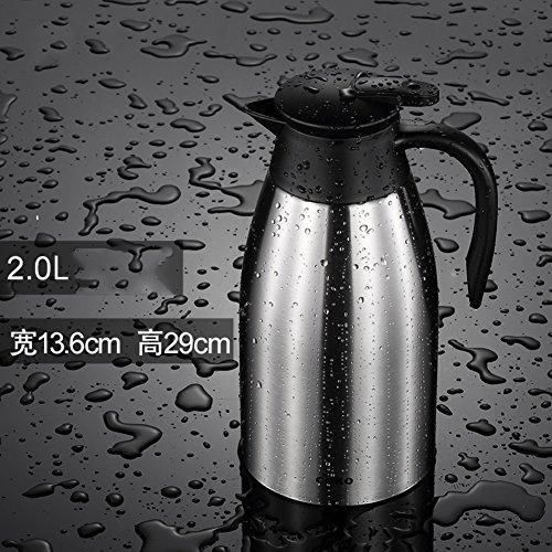 HURBHDGYDFMNV Vacuüm 304RVS Geïsoleerde Pot Huishoudelijke Vacuüm Flask 2L Grote Capaciteit Outdoor Verwarming Ketel Effen Kleur Ketel