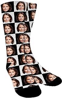 Calcetines Personalizados Con Fotos,Tartán,Ponga Su Cara En Calcetines Para Hombres, Mujeres