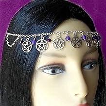 Ursumy Boho Crystal Hair Chain Wedding Hair Jewelry Egyptian Hair Style Bridal Head Chain for Women and Girls
