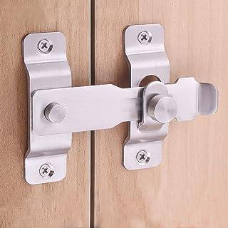 Stainless Steel Sliding Barn Door Latch Lock Locking Barns Sliding and Double Doors Hasp lock for Window Cabinet Garage an...