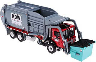 HOMYL 1:24 Alloy Pull Back Rubbish Truck Garbage Waste Trash Truck Model Kid Toy
