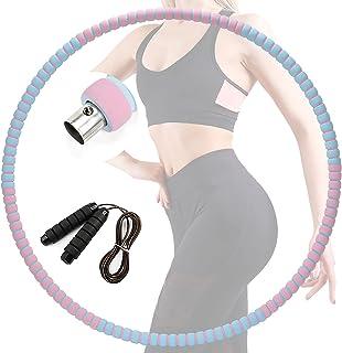 Hoelahoep fitness, hoelahoep voor volwassenen, 6 secties Professionele hoelahoep Stabielere en afneembare trainingsring vo...