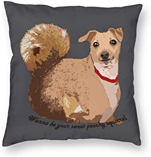 Be Your Sweet Dog Square Pillow Throw Case Pillow Covers Set Cushion Hold Pillowcase Sofa Bed Home