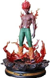 LF-YGJ Estatua de Anime Naruto May Guy Estatua Busto Ye Kai Retrato de tamaño Natural con luz LED Modelo Coleccionable Fig...