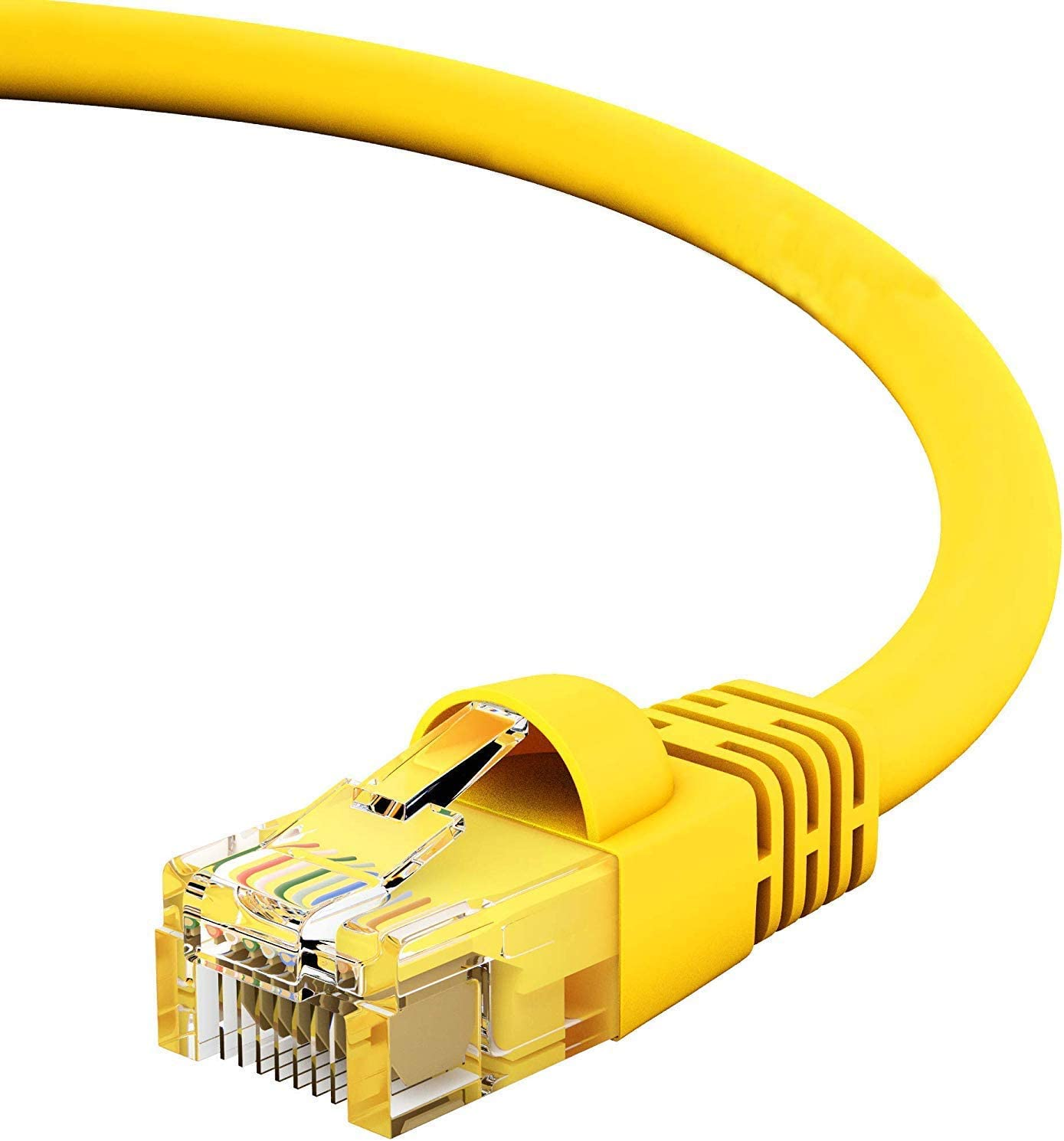 Orange 24AWG Network Cable with Gold Plated RJ45 Snagless//Molded//Booted Connector 10 Gigabit//Sec High Speed LAN Internet//Patch Cable GOWOS Cat6 Ethernet Cable 550MHz 50-Pack - 12 FT