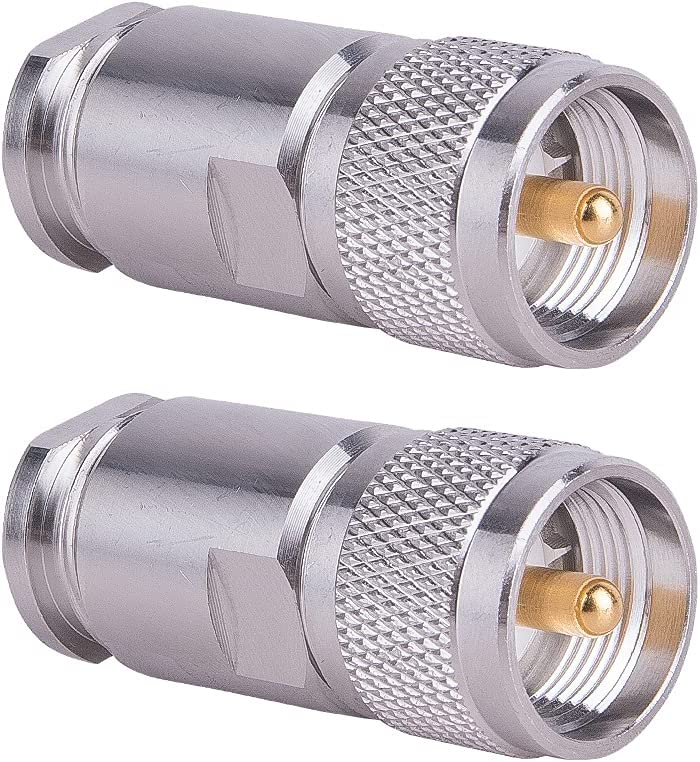 PL-259 Connectors Regular dealer Male UHF Type Adapter Connector Attach End Be super welcome LMR