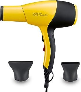 Deinppa Secador de pelo iónico AC 2100 W secador de salón profesional bajo nivel de ruido secado rápido con tecnología de cerámica + turmalina